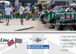 Einladung zum 6. British Car Meeting bei Classic-Line