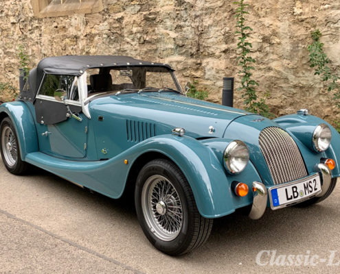 Morgan Plus 4 Land Rover Blue